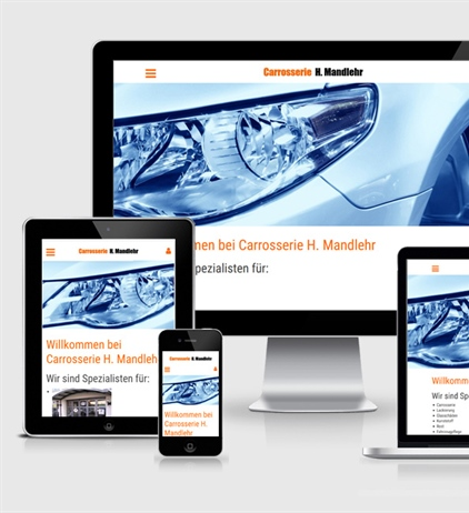 Neue Website Carrosserie H. Mandlehr