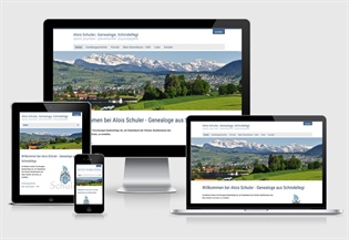 Neue Website Alois Schuler Genealoge