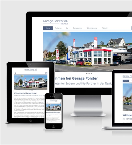 Neue Website Garage W. Forster AG