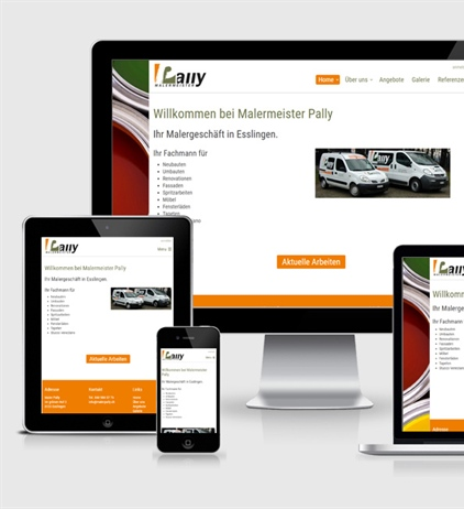 Neue Website Maler Pally